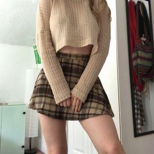 American Apparel Plaid Miniskirt